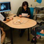 Consult hartcatheterisatie in het WKZ ziekenhuis in Utrecht, Hartekind met syndroom Williams-Beuren, foto door Sandra Stokmans Fotografie