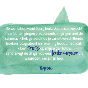 cursus fotograferen voor kinderen, cursus basisfotografie voor kinderen, Sandra Stokmans Fotografie