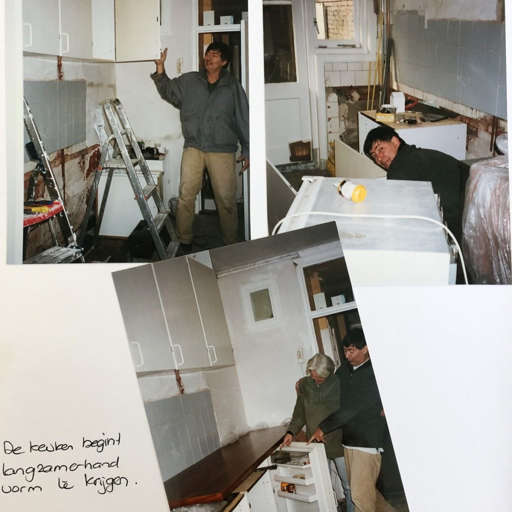 Working in my first bought home in Leiden (2001)