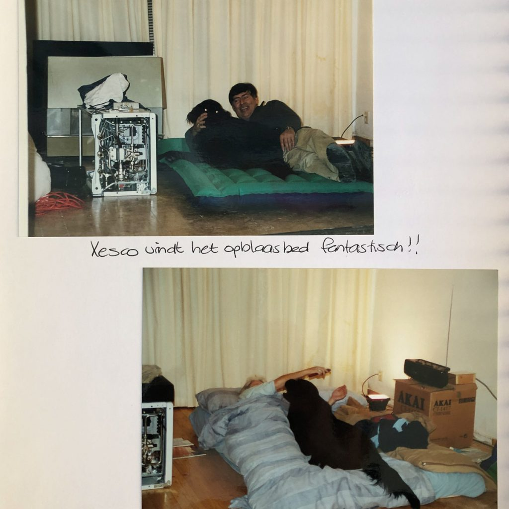 Sleeping arrangements for my parents while working in my first bought home in Leiden (2001)